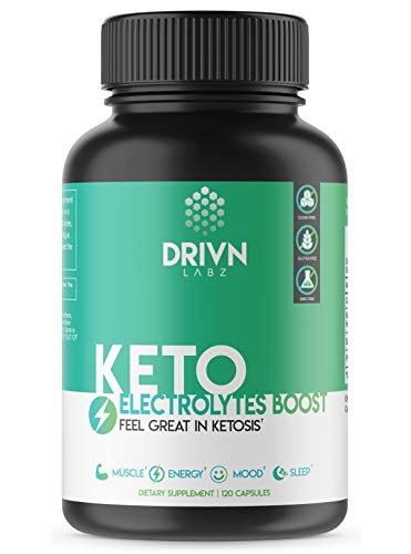 Premium Keto Supplement, Defeat Fatigue & Cramps with This Electrolyte Supplement, Contains Magnesium, Potassium, and Sodium, Feel Great While You Lose Weight or Your Money Back