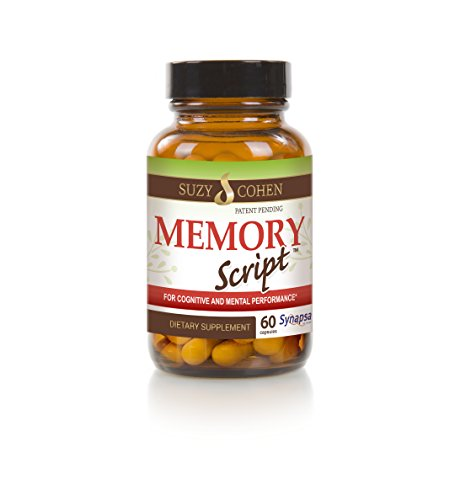 Memory Script - Cognitive and Mental Performance Supplement - 60 ct - by Suzy Cohen, RPh