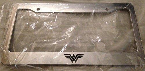 ' W ' Wonder Woman - Automotive Chrome License Plate Frame - Super Woman Super Girl Super Mom