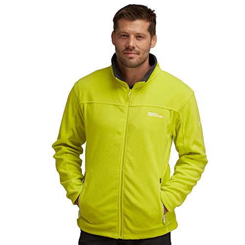 - Regatta Great Outdoors Mens Adventure Tech Stanton II Fleece Top (S) (Neon Spring/Grey)