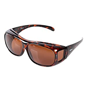 Yodo Fit Over Glasses Sunglasses with Polarized Lenses for Men and Women, Leopard