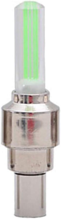 Lumi/ère Bouchons de Valve LED Lumineux pour Roue de V/élo TriLance Valve Bouchon Flash LED Lumi/ère pour V/élo Feu de Roue de V/élo Lumi/ères LED pour Roue de V/élo Accessoires de la Lampe