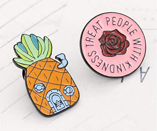 Creative Fruit Pineapple Clothing Rose Brooch (1) by Angelstore Brooch (Image #5)