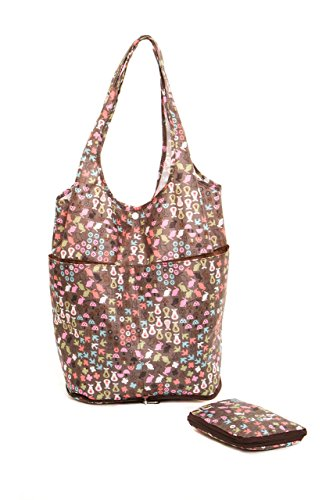 "The Very Lovely Bag Co. - ""Primavera"" Bolsa de la compra plegable, Botón de cierre"
