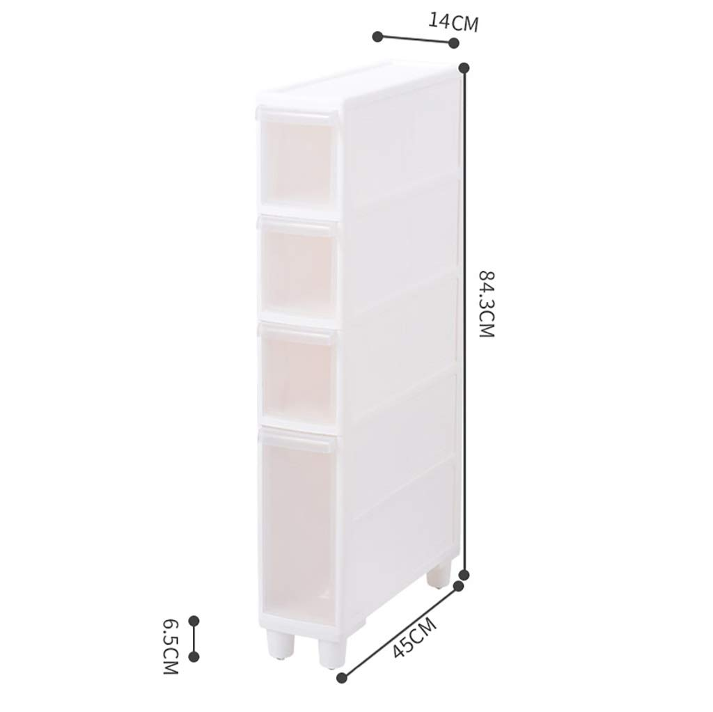 B 14CM Sandwich Storage Cabinet Refrigerator Rack Narrow Slit Kitchen Plastic Drawer Wheeled Locker Bathroom Shelf (color   B)