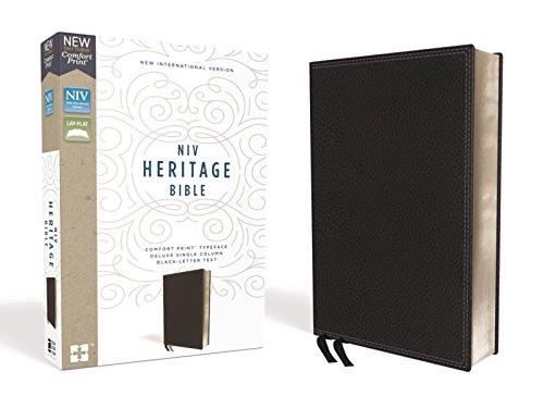 NIV, Heritage Bible, Deluxe Single-Column, Leathersoft, Black, Comfort Print