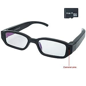 Wiseup™ 16GB 1280x720P HD Hidden Camera Glasses Video Recorder Security Camcorder Mini DV
