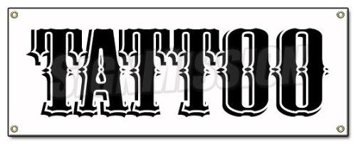 - TATTOO BANNER SIGN shop artist signs gun neon