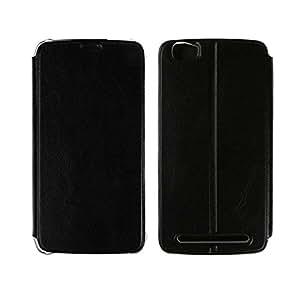 homtom ht6con Hard plástico funda PU piel Flip Cover Funda Funda de piel Case Funda teléfono móvil carcasa funda soporte soporte para teléfono móvil