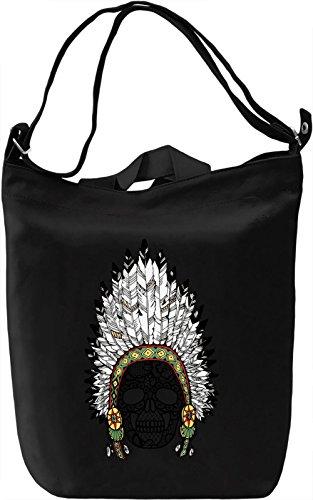 Indian skull Borsa Giornaliera Canvas Canvas Day Bag| 100% Premium Cotton Canvas| DTG Printing|