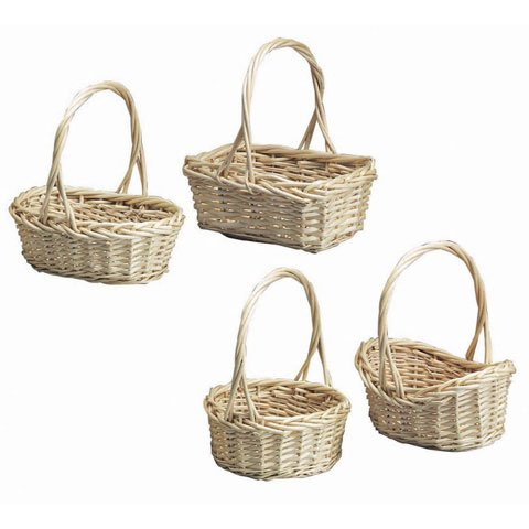 Bulk Buy: Darice DIY Crafts Willow Basket Set 4 Assorted Styles 3 pieces (12-Pack) 2831-89