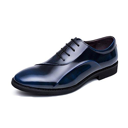Chaussures En Cuir Véritable Des Hommes Bas Luxe Confortable Printemps Été Bleu Noir Mode Casual Claret Derby Formel Haut Chaussures Daffaires Oxford Dentelle Mocassins Bleu