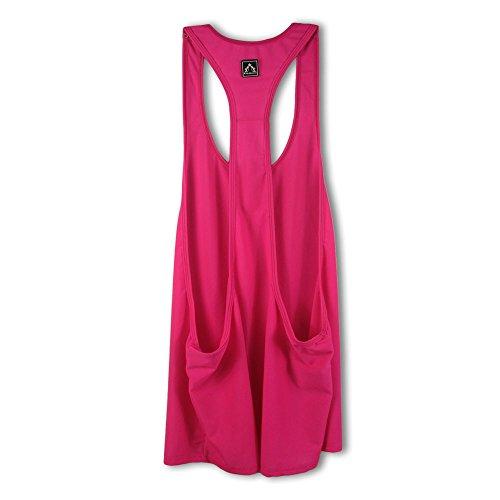 LaLaAreal Mujer Camisetas Tirantes Tank Tops Deportivos Sin Mangas para Running , Gym y Yoga Rosa