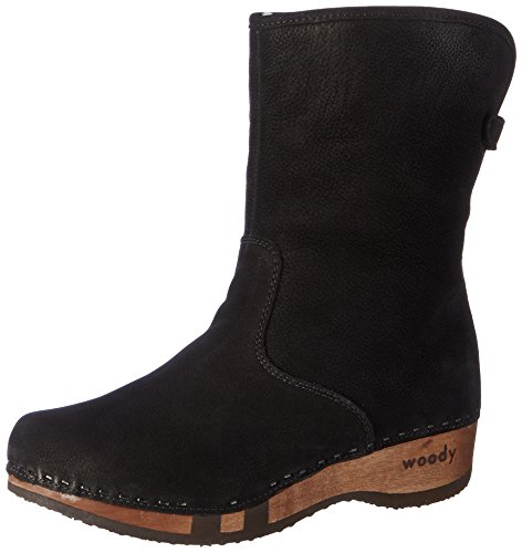 Woody Ulli, Women's Slouch Boots Black (Nero)