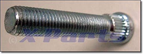 allungato zigrinato bullone borchie Bulloni M12 x 1, 5 per 67 mm nuovo 5per 67mm nuovo X-Parts
