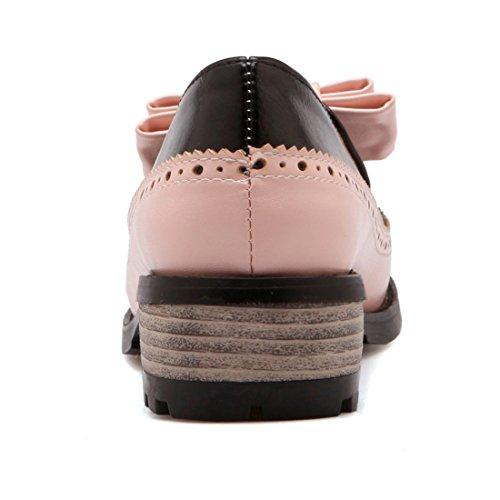 UH Femmes Chaussures Bout Pointu Douce Et Simple a Talon Haut Compensees Elegantes Rose cT6N0