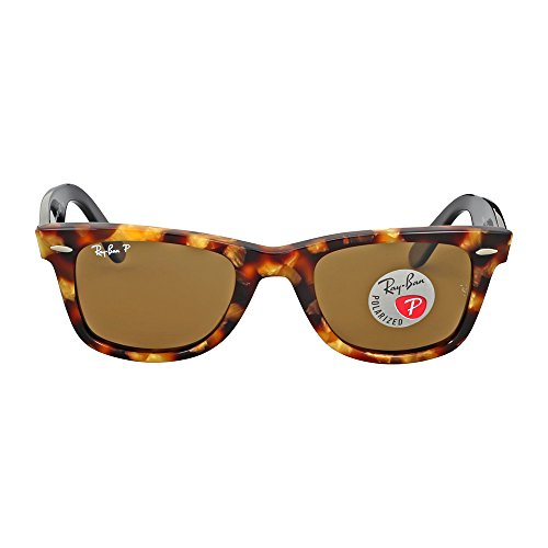 Ray-Ban Original Wayfarer Sunglasses (RB2140) Black/Brown Acetate - Polarized - 50mm (Ray-ban Rb2140 50 Original Wayfarer)