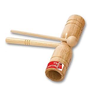Percussion Plus PP253 - Bloque de percusión (madera, dos tonos, con baqueta)