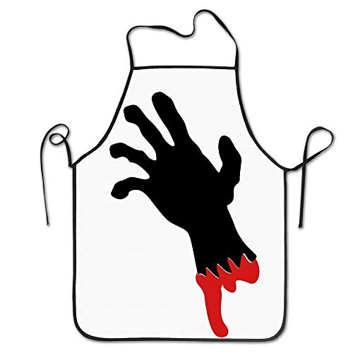 OSPRER Fashion Home Kitchen Chef Apron Halloween Polyester Garden Adjustable Adults Bibs Polyester Apron -