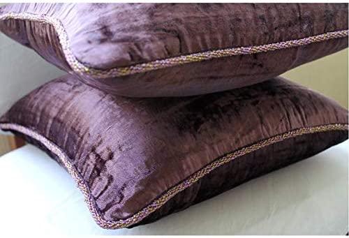 Ciruela Fundas De Cojines, Color Sólido Cordón Del Grano Cojines Cubren, 40x40 cm Fundas De Cojines, Terciopelo Cojines Cubren, Contemporáneo Fundas ...
