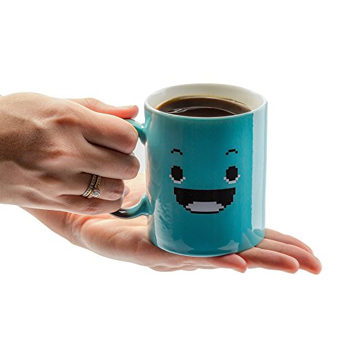 InGwest Home. Morning Coffee Mug. 11 ounce. Changing Color Mug for you and your friend. Ceramic Heat Sensitive Color Changing Coffee Mug. Novelty Heat Sensitive Mug With Funny Smile by InGwest Home (Image #3)
