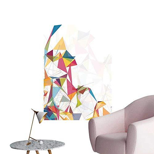 Brandosn Abstract Wall Paintings self-Adhesive Futuristic Design Mesh