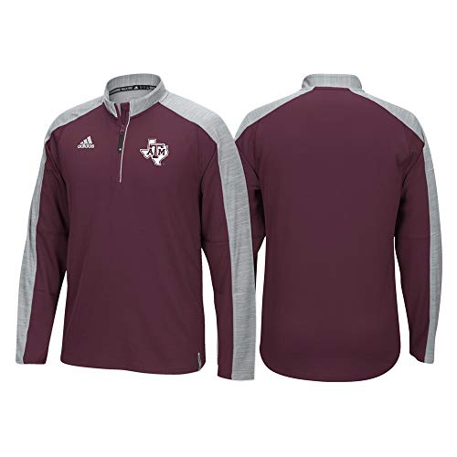 - adidas Texas A&M Aggies 2016 Sideline 1/4 Zip Climalite Pullover Shirt