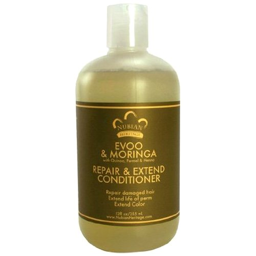 - Nubian Heritage Extra Virgin Olive Oil and Moringa Conditioner, 12 Fluid Ounce