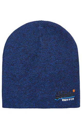 para Gris Superdry Punto Utah Label Beanie Gorro Royal de Orange Grit Hombre Uk2 CxCWrnT