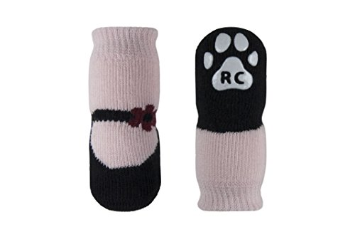 RC Pet Products PAWks Dog Socks, X-Small, Pink Mary Janes
