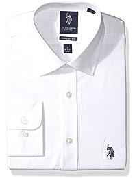 Men's Regular Fit Solid Semi Spread Collar Dress Shirt