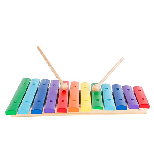 Deluxe Wooden Xylophone Musical Toy with Two Wooden Mallets - Great for Toddlers! by TMG