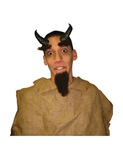 [Latex Costume Accessory Satyr Horns Prosthetics Kit] (Satyr Halloween Costumes)