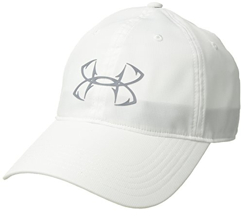 Under Armour Outerwear Men's Fish Hook Cap Upd, White (100)/Steel, One Size Fits All