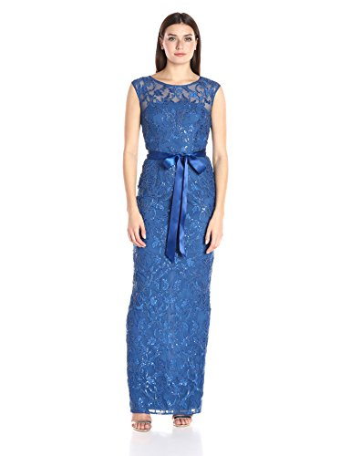 Adrianna Papell Women's Cap Sleeve Long Gown