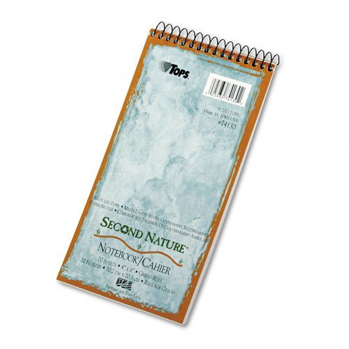Tops Second Nature Spiral - TOPS : Second Nature Spiral Reporter/Steno Notebook, Gregg Rule, 4x8, WE, 70-Sheet -:- Sold as 2 Packs of - 1 - / - Total of 2 Each