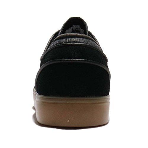 Nike Zoom Stefan Janoski Mannen Skateboard Schoenen Zwart / Wit / Bruin (zwart / Wit-gum Lichtbruin)