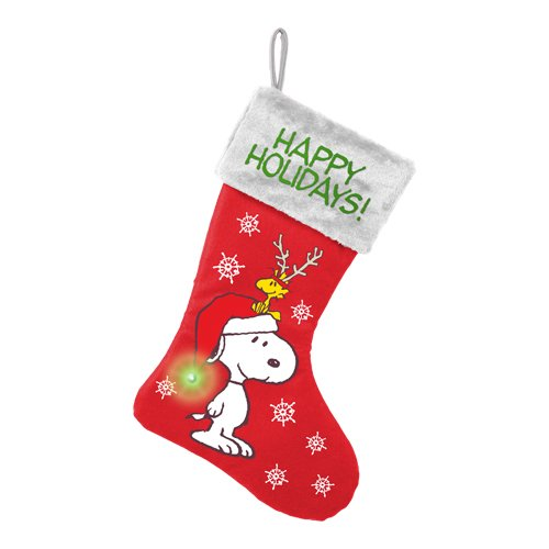 Vandor Peanuts Snoopy Happy Holidays Large Led Stocking 85091 Accessory Consumer Accessories