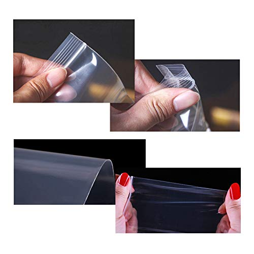 Long Jewelery Plastic Bags 100pcs 3 x 12 Clear Zipper Reclosable Necklace Bags with Hang Hole Poly Zip Lock Storage Bags for Face Masks 2 Mil