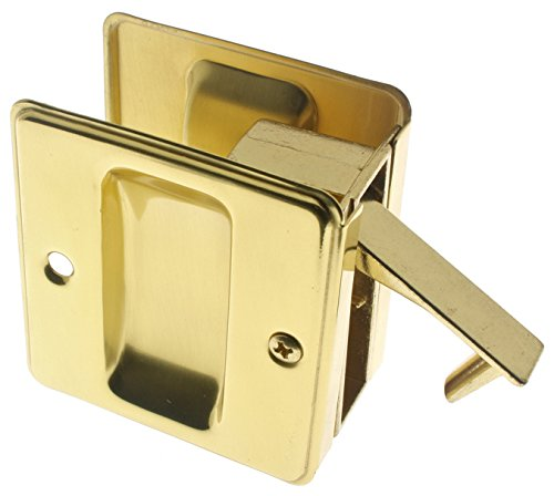 idh by St. Simons 25410-003 Premium Quality Solid Brass Pocket Passage Door Pull, Polished - Passage Door Pull Polished Brass