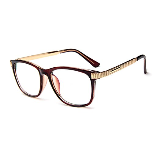 G&T Retro Fashion Men Womens Can Match Glasses Myopia Metal Leg Plain Casual - Structure How To Get Face Perfect