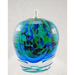Art Glass Oil Lamp, Oil Candle:IRISES