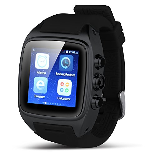 Padgene Android 4.4.2 Watch Phone, Bluetooth 4.0, NFC, WiFi, 2.0MP Camera, Support 2G / 3G GSM Network, Black by Padgene