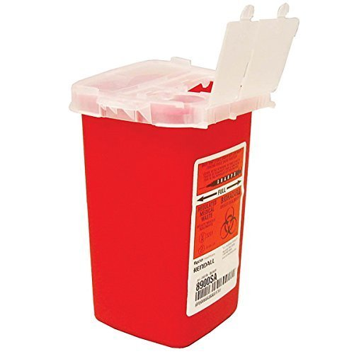 Kendall Covidien Sharp Container 1 Qt (4 Pack) ()
