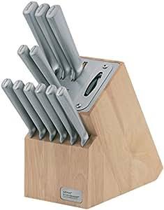 Wiltshire Premium Stainless Steel 12 Piece Knife Block Set with Sharpener