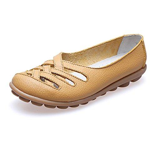 Paris HillEuph039 - zapatilla baja mujer amarillo