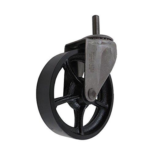 5 cast iron casters - 8