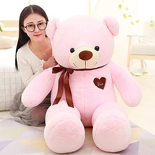 LApapaye Stuffed Animal Teddy Bear with Sweatheart Plush Animal Toys for Girlfriend Children Friends at Christmas Halloween Party,Pink (pink-80cm/31'')