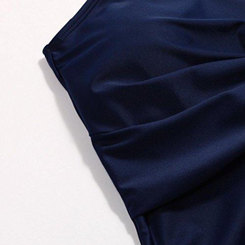 UFACE Frau Volltonfarbe Knoten Design Badeanzug Frauen Bikini Bademode Beachwear Marine MVSYT8
