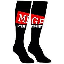Long Dress Socks MLGB Cool Comfortable Over The Calf Tube Socking Baseball Socks
